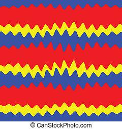 rotes , blaues, und, gelber , abstrakt, hintergrund, vektor, bild