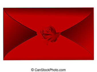 Rotes, Briefkuvert, Verschlossen - rotes, briefkuvert,...