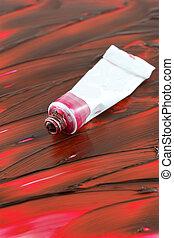 rotes , bunte, artist's, farbe