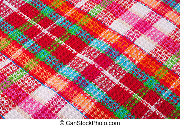 rotes , checkered, tuch