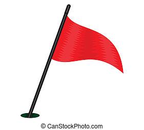 rotes , dreieckig, fahne