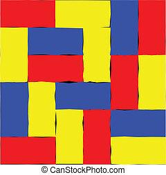 rotes , gelb blau, abstrakt, hintergrund, vektor, bild