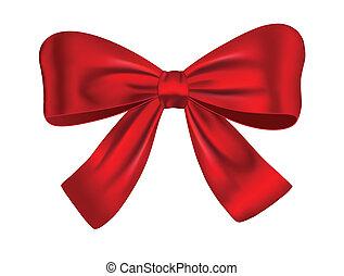 rotes , geschenk verbeugung