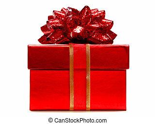 rotes , geschenkschachtel, mit, schleife