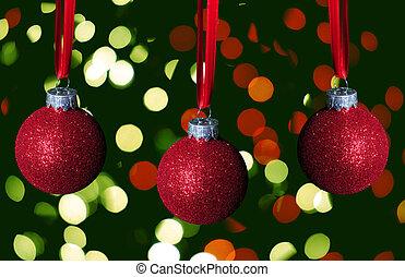 Glitzer Christbaumkugeln.Dekoration Glitzer Baum Weihnachten Rotes Baum Dekoration