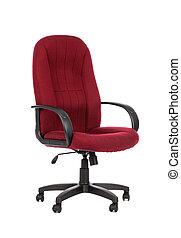 rotes , groß, buero, chair., freigestellt
