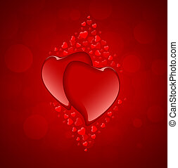 rotes , herzen, tag valentines, hintergrund