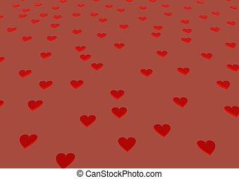 rotes , herzen, tag valentines, hintergrund.