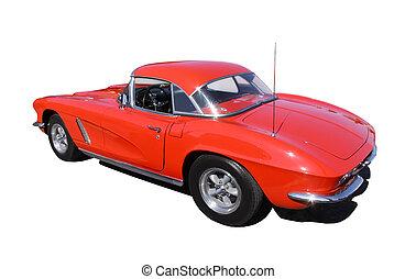 rotes , klassisches auto