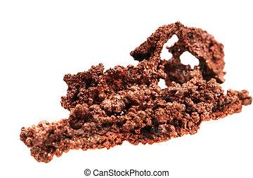 Kupfer, mineral, metallisch, gestein, kristalle, fass. Kupfer, mineral, metall, gegen, neutral ...