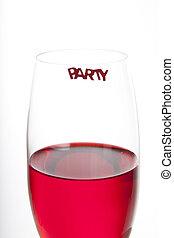rotes , party, getränk