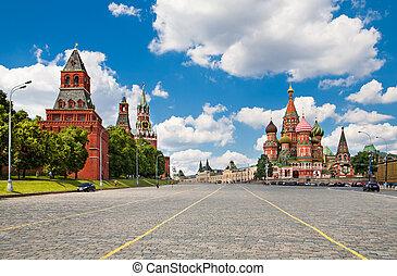 rotes quadrat, moskauer , russland