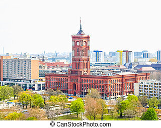 Rotes Rathaus, Berlin HDR - High dynamic range HDR Rotes...