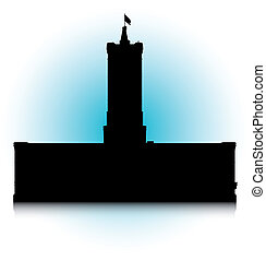 Rotes Rathaus - An abstract vector illustration of the Rotes...