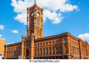Rotes Rathaus in Berlin HDR - High dynamic range HDR Rotes...