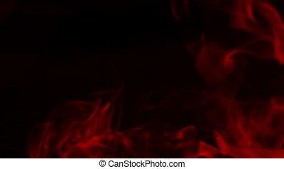 rotes , rauchwolken