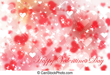 rotes , tag valentines, hintergrund, mit, herzen