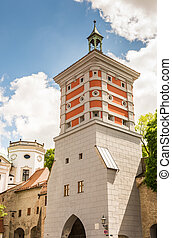 Rotes Tor tower in Augsburg (Germany)