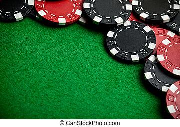 rotes , und, schwarz, spielen chips