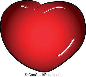 rotes , valentinestag, herz, vektor