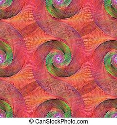 Muster, abstrakt, verdrahtet, spirale, mehrfarbig. Muster,... Vektor ...