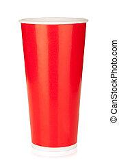 rotes , verfügbare tasse
