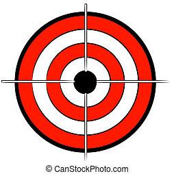rotes weiß, und, schwarz, bullseye, ziel