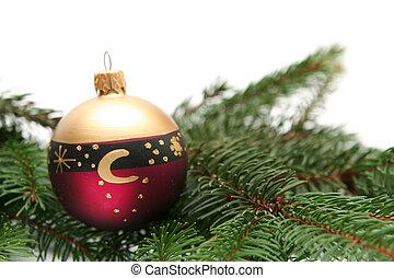 rotes , weihnachten, birnen