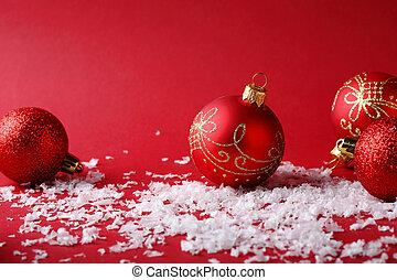 rotes , weihnachten, hintergrund