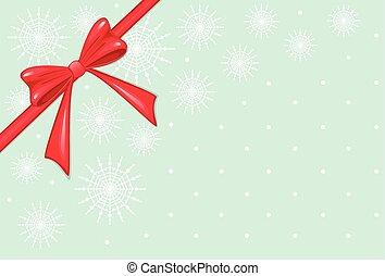 rotes , weihnachten, schleife