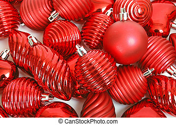 rotes , weihnachtszierde, hintergrund