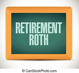 roth, retraite, planche, illustration, signe