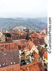 rothenburg, der, 航空写真, ob, tauber