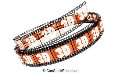 rotolato, film, 3d