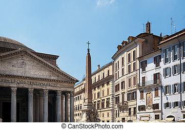 rotonda, della, ローマ, italy., 広場