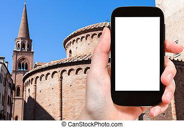 Rotonda di san lorenzo and belltower of Basilica - travel...