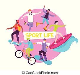 rotondo, composizione, appartamento, sport, vita