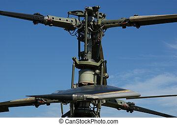 rotor, corriente, primer plano, detalles, helicóptero,...