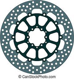 rotor, freio, motocicleta