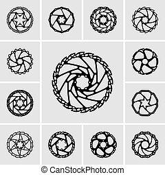 Rotor icons - Set of rotor icons