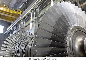 Rotor of a steam turbine - Internal rotor of a steam Turbine...