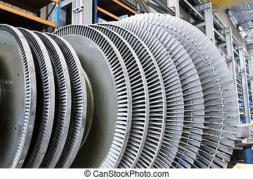 Rotor of a steam Turbine - Internal rotor of a steam Turbine...