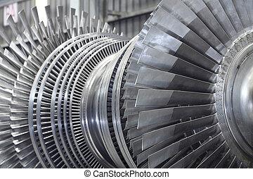 rotor, turbine, vapeur