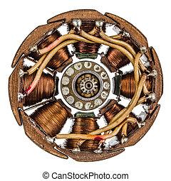rotor, und, stator, von, elektro, motor,