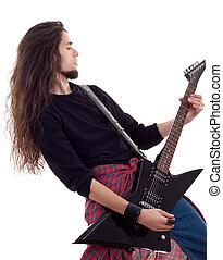 rots, gitaar, ster