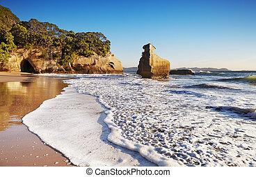 rots, nieuw, het glimlachen, sphinx, zeeland