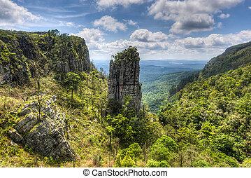 rots, pinnacle, mpumalanga, afrika, zuiden