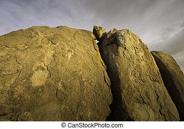 rots, woestijn, dramatisch, formatie