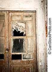 Rotten Door, taken in Naxos, Greece. with some Vignette