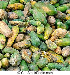 Rotten papayas - A pile of rotten papayas